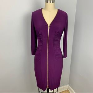 Cache Bodycon Zipper Dress